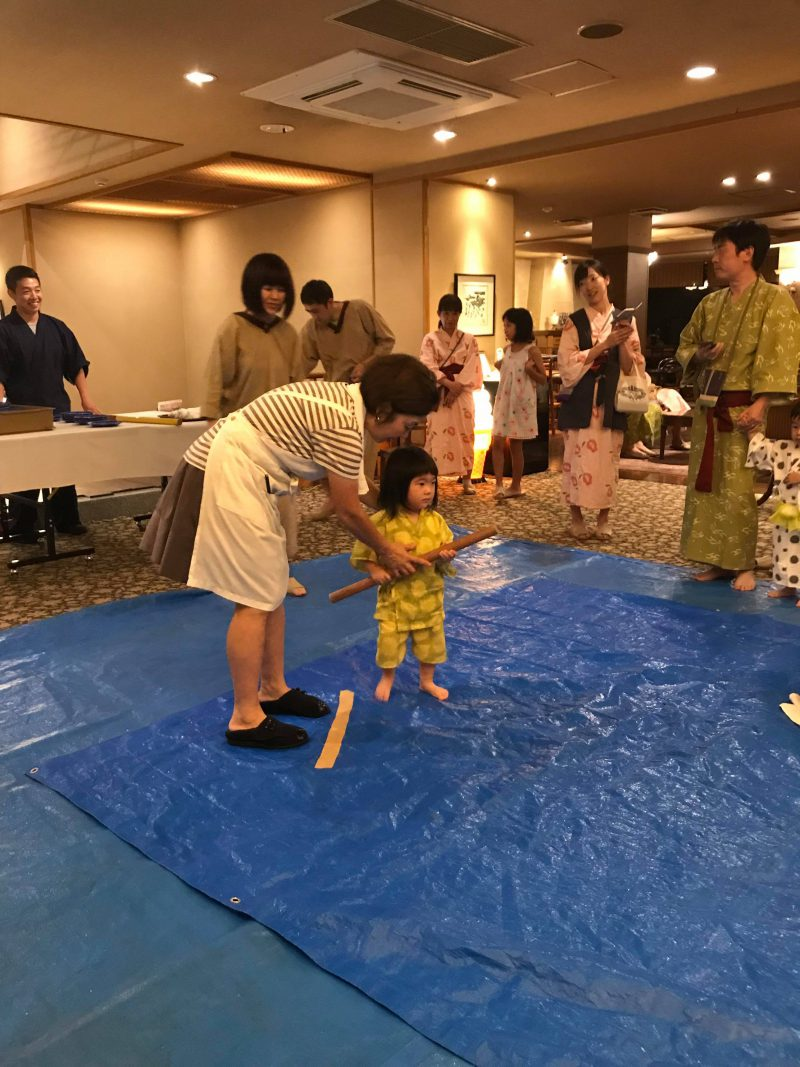 the japanese game of watermelon splitting suikawari at hakkei