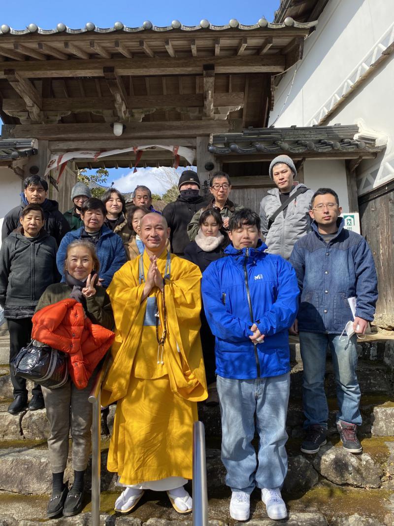 お寺での修行